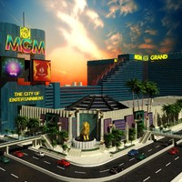 3d 3ds mgm grand building las vegas
