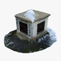 old ventilation shaft 3d model