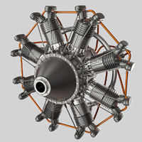 radial engine 3d max