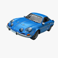renault alpine 110 3d model