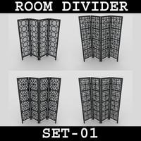 3d model room divider set