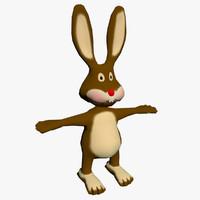3d rabbit character
