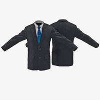 mens suit jacket 3ds
