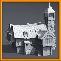 medieval style house 3d model