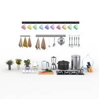 3ds max kitchen set