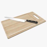 chopping board knife 3d model