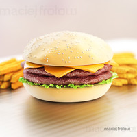 3d model hamburger fries