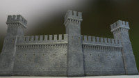 ready castle set 3d max