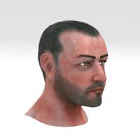 x aged male head