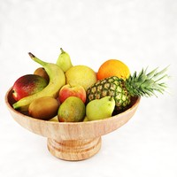 fruits bowl 3d model