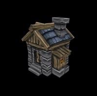 3d medieval fantasy house