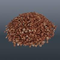 buckwheat 3d model