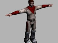 futuristic human character 3d max
