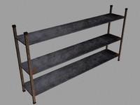 free warehouse shelves 3d model