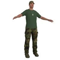3d model soldier hat