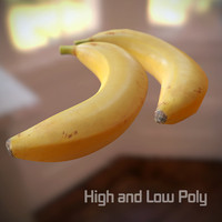 3d banana scanned polys