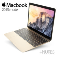 3d model apple macbook 2015