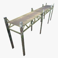 Metal Pier Low-poly
