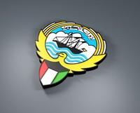 free kuwait logo 3d model