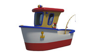boat toy 3d max
