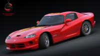 3d model dodge viper gts acr