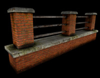 3d brick fence
