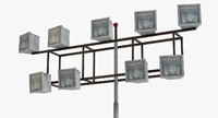 3d 3ds airfield floodlight lights