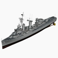 3ds max d119 fletcher class destroyer