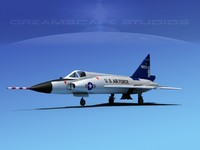 f-102 convair air force 3d max