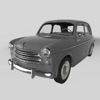fiat 1100-103 sedan 1953 3d max