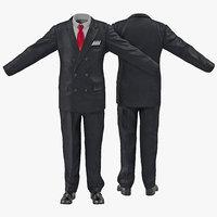 men suit 5 3d max