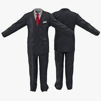 3d model men suit 6