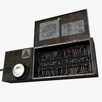 circuit breaker fuse box 3d 3ds