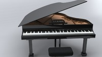 free obj mode baby grand piano keys