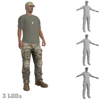 3ds max rigged soldier s hat