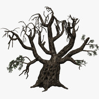3d dark olive tree