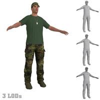 soldier hat 3d model
