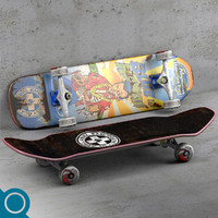 hawaiian pool complete skateboard 3d obj
