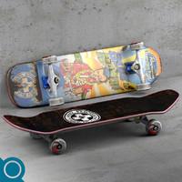 hawaiian pool complete skateboard 3d obj