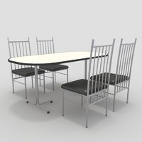 table chairs-1 chairs 3d model