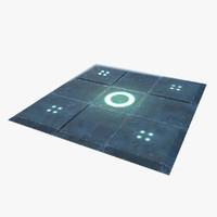 3d model sci-fi floor wall -