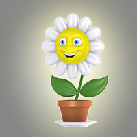 max cartoon flower