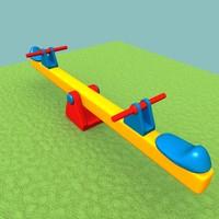 kids seesaw 3d model