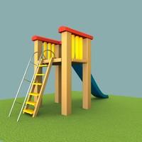 3d model kids slide