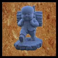 3d model buddha kid