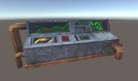 3d retro control panel