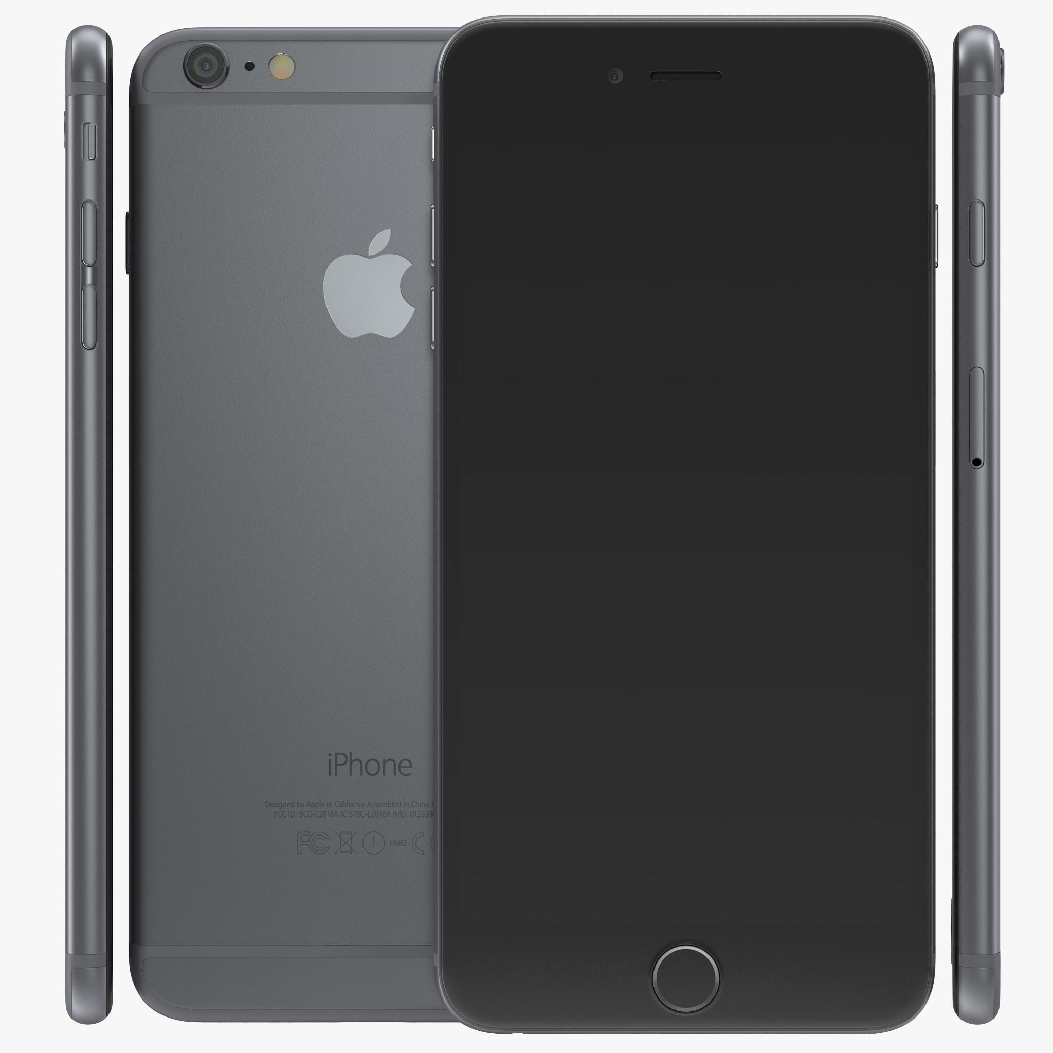 iPhone 6 Plus Space Gray 3d model 00.jpg
