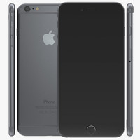 3d obj iphone 6 space gray