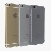 3d iphone 6 set model