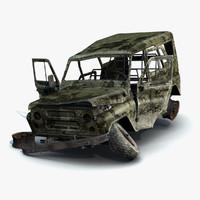 russian military uaz-3151 3d model